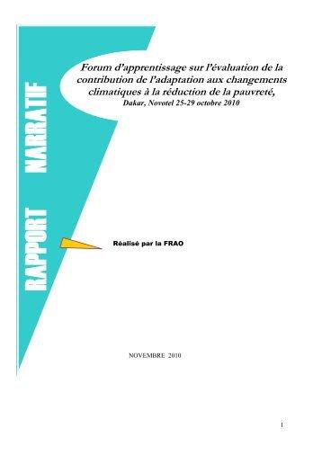 Facilitation de l'atelier Bilan et Planification des partenaires ...