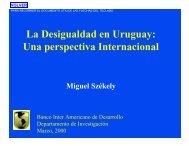 La Desigualdad en Uruguay: Una perspectiva Internacional