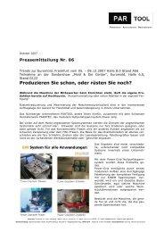 Produzieren Sie schon, oder rüsten Sie noch? - PARTOOL GmbH ...