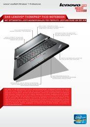 das lenovo® thinkpad® t430 notebook - Lenovo Partner Network
