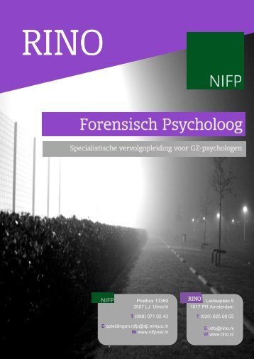 Brochure Forensisch Psycholoog 2015
