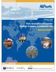 Strategic Economic Development Plan - Ports Association of Louisiana