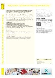 Multi-Vendor Collaboration Field Engineer Workshop - Experteach ...