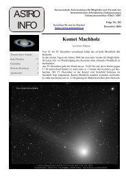ASTRO INFO - Sternwarte Gahberg
