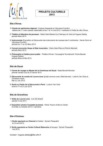 liste des projets retenus - IUFM