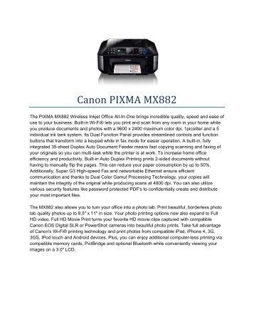 Canon PIXMA MX882 - Southwest Business Machines