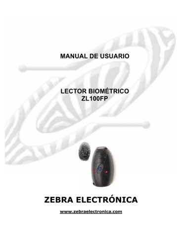 Manual Hardware y Softwre ZL100FPSep-08 - Zebra Electronica
