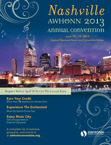Download the 2013 Convention Program - AWHONN Convention