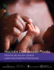 Nacidos Demasiado Pronto: Informe de Acción Global sobre