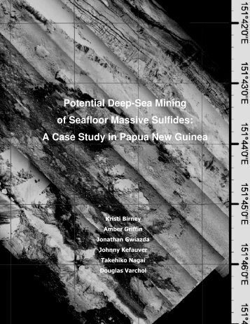 Potential Deep-Sea Mining of Seafloor Massive Sulfides: A Case ...