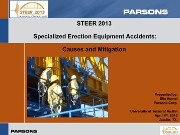 High Tech Erection Methods Accidents: Causes and Mitigation