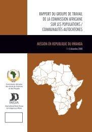 rapport du groupe de travail de la commission africaine sur ... - iwgia