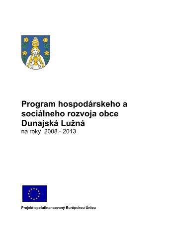 PHSR DL final - Obec Dunajská Lužná