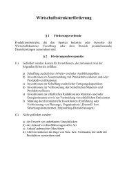 Richtlinien zur Förderung - Vorarlberg