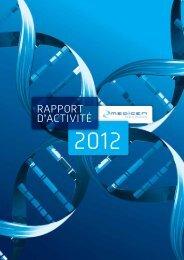 Téléchargez le rapport d'activité 2012 - Medicen