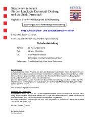 STAATLICHES SCHULAMT - Offene Schule Babenhausen