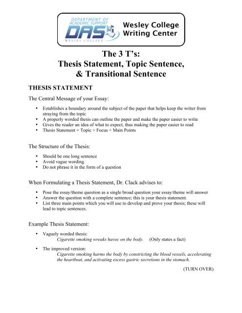 Thesis Statement Essays  Vifoangeip Hook