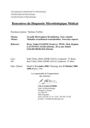 Rencontres du Diagnostic Microbiologique Médical - Swiss Society ...