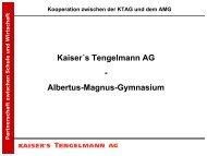 Kaiser´s Tengelmann AG - Albertus-Magnus-Gymnasium