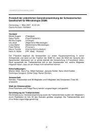 Protokoll der ordentlichen Generalversammlung der ...