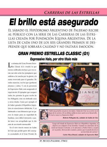 CARRERAS dE lAS EStREllAS GRAN PREMIO ... -  Revista Palermo