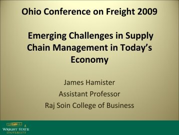 Emerging Issues in Supply Chain Management