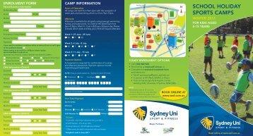 SCHOOL HOLIDAY SPORTS CAMPS - Sydney University Sport
