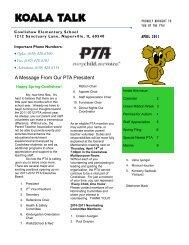 Koala Talk April 2011 (pdf) - Cowlishaw Elementary School