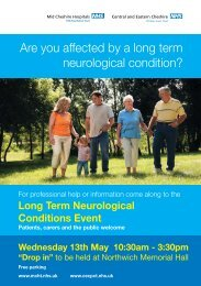 Are you affected by a long term neurological condition?