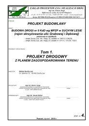Tom 1. PROJEKT DROGOWY - Gmina Suchy Las
