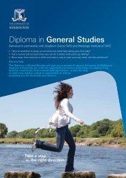 Diploma in General Studies - Goulburn Ovens Institute of TAFE