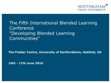 Blended learning - StudyNet - University of Hertfordshire