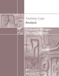 Production Managers: Film and Television - Conseil des ressources ...