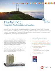 FibeAir® IP-10 - UK Broadband Distribution