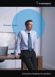 find your space Schnurlose Headsets für das Büro - SMK