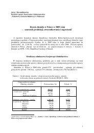 Rynek chmielu w Polsce w 2009 roku - Instytut Uprawy Nawożenia i ...