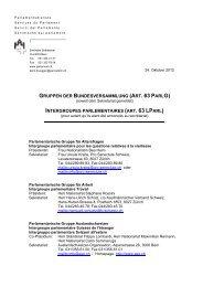 Gruppen der Bundesversammlung (Art. 63 ParlG) - Schweizer ...