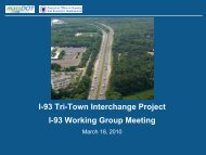 March 18, 2010, I-93 Working Group Meeting Presentation