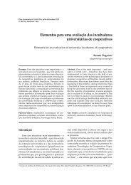 Elementos para uma avaliação das incubadoras ... - IGEO- Unicamp