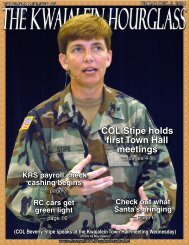 COL Stipe holds first Town Hall meetings - Space and Missile ...