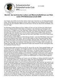 weiler IFR-Weltmeisterschaft 2009 - Schweizerischer Rottweiler ...