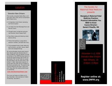 Register online at: www.SMFM.org - Society for Maternal-Fetal ...
