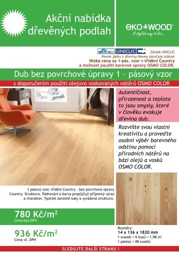Akční nabídka dřevěných podlah - AU-MEX
