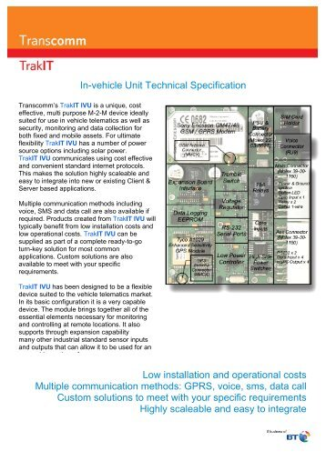 In-vehicle Unit Technical Specification Low installation and ... - BT.com