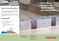 Hochwasserschutzkörbe - Geiger