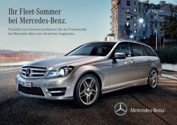Ihr Fleet-Sommer bei Mercedes-Benz.