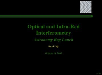 Optical and Infra-Red Interferometry - jura