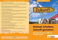 Wahlprospekt Wahlkreis 4 - CDU Kreisverband Freudenstadt