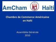 Chambre de Commerce Américaine en Haïti - AMCHAM