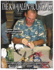 Bill Eisele demonstrates how to make a fishing lure at a display ...
